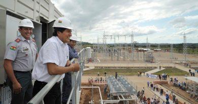 Evo Morales Termoelectrica del sur Bolivia ENDE