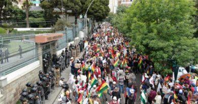 marcha bolivia dijo no lp