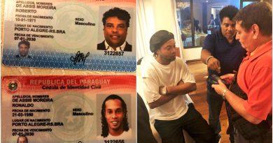 Detención de Ronaldinho genera escándalo entre autoridades paraguayas