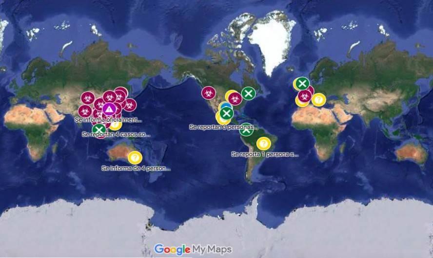 mapa real covid