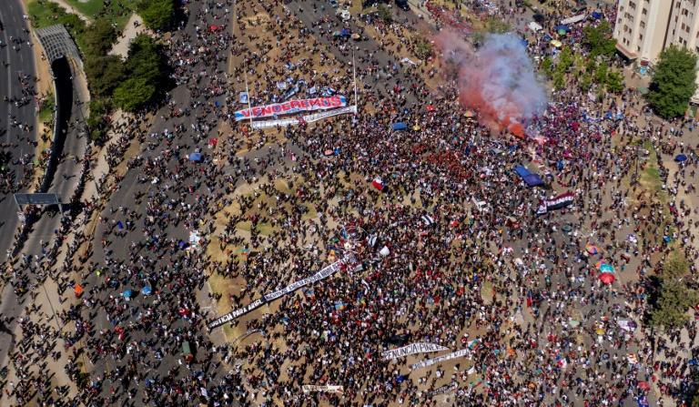 protestas chilenos